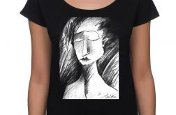 Szkic - koszulka oversize - czarna