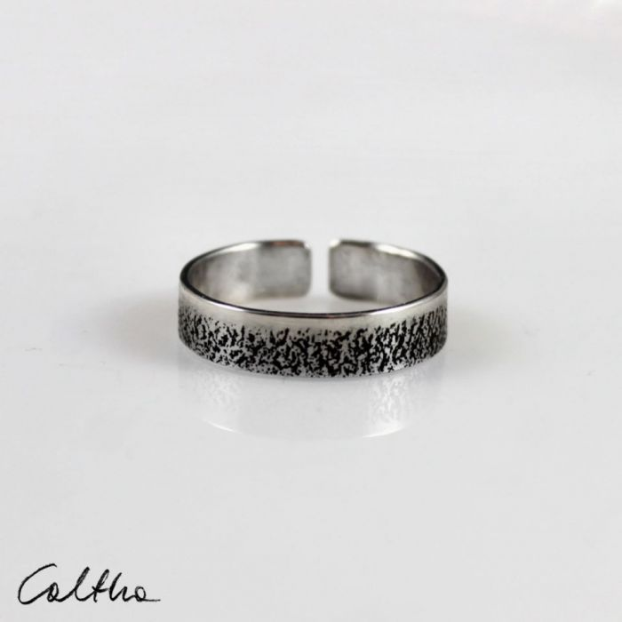 Piasek - srebrna obrączka 210112-02