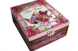 Pudełko na herbatę z 4 przegrodami