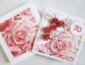 Kartka URODZINOWA z różanym motywem