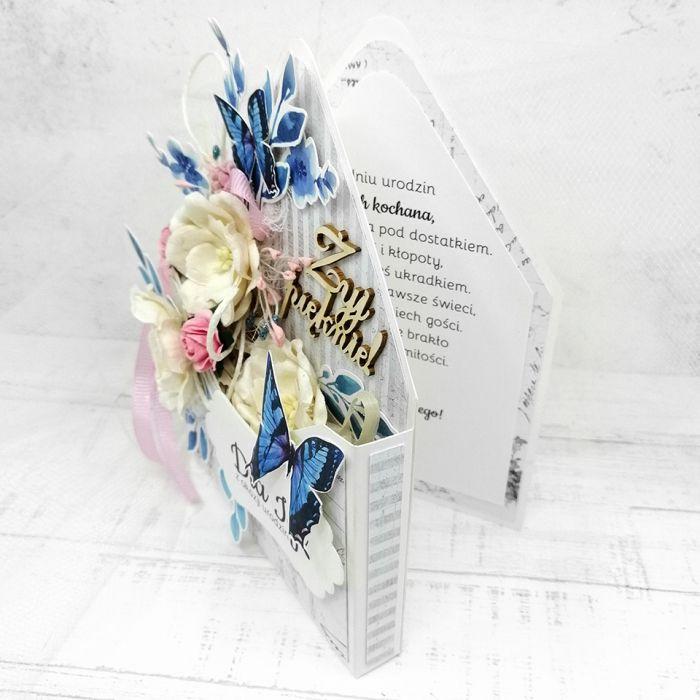 Nietypowa kwiecista dla kobiety PDK 017 - Nietypowa kwiecista kartka dla kobiety flower box (3)