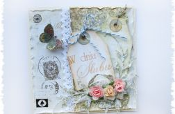 Kartka na ślub z motylkiem