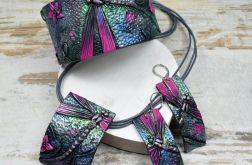 Komplet biżuterii z ważką