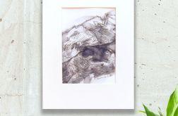 czarno biały rysunek Szkic górski nr 13graf