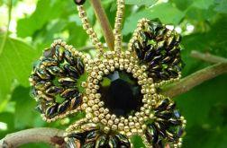 Broszka 'czarno-złoty motyl'