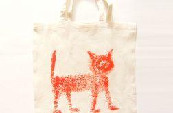 Bawełniana torba z kotem nr2 eko torba