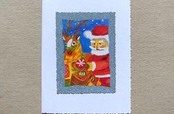 kartka świąteczna Mikołaj nr 1