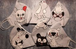 Maseczki bawełniane zestaw psy