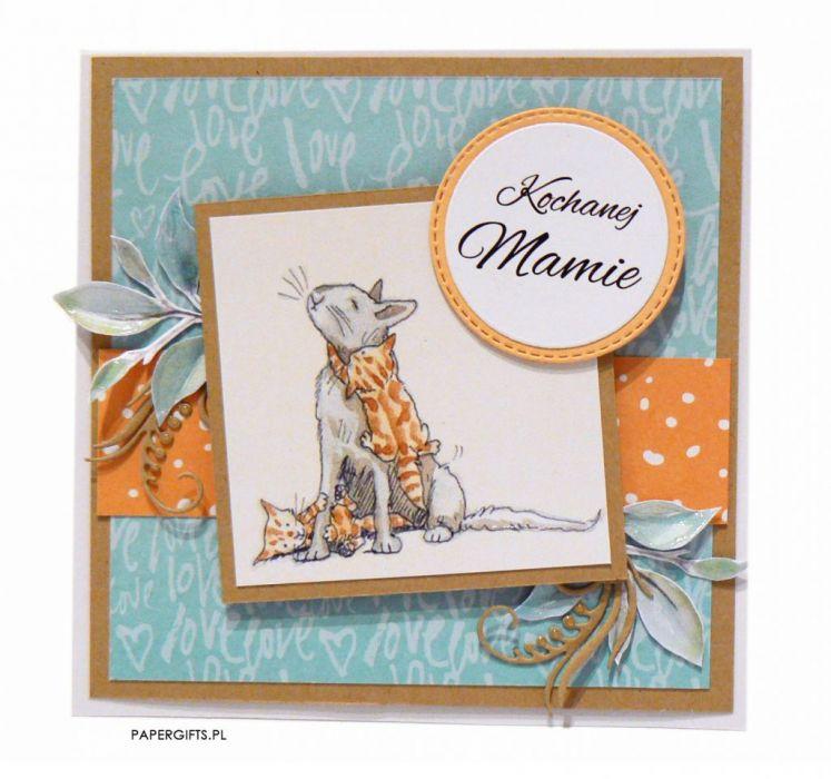 Zabawna kartka z kotkami na Dzień Mamy