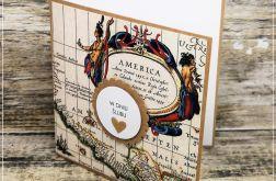 Kartka z mapą-z okazji Ślubu
