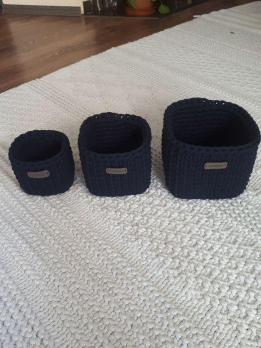 Koszyki ze sznurka komplet 3 szt