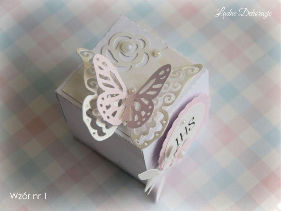 Pudełeczka z motylem podziękowanie #1