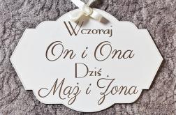 TABLICA ściankę MĄŻ ŻONA ślub wesele napis