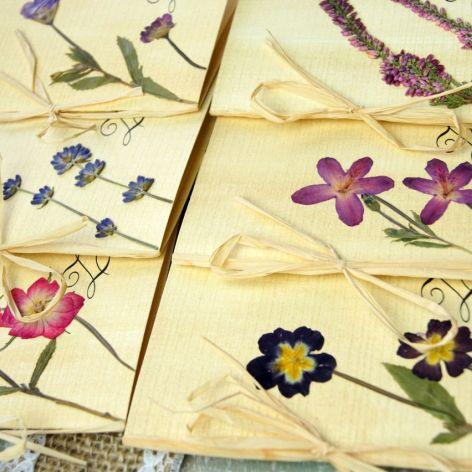 Zaproszenia na ślub suszone kwiaty
