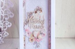 Kartka ślubna DL Marry Me tłoczona GOTOWA