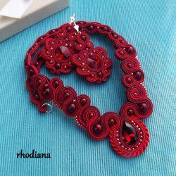 Rubinowe LOVE- wyjątkowy naszyjnik