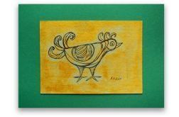 Ptaszek nr 1- rysunek dekoracyjny do domu