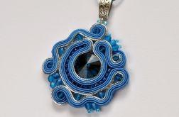 Wisiorek niebiesko-srebrny I