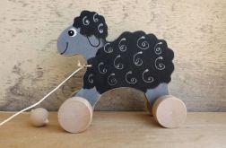 Drewniany baranek / owieczka, czarna
