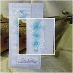 Kartka okolicznościowa - błękitne kwiatki