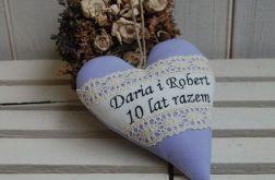 Serce na ślub/rocznicę ślubu - w fiolecie
