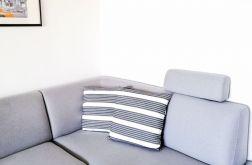 Poszewka dekoracyjna biało-ciemnoszara 50x50