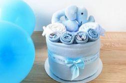 MINI Tort wyprawkowy - niebieski