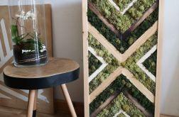 Obraz z drewna i mchu