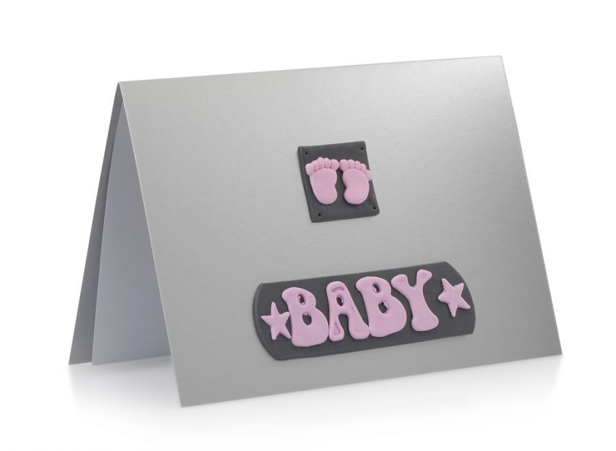Kartka Baby Girl Stópki