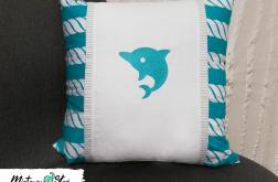 Delfin ~ poduszka w marynarskim stylu