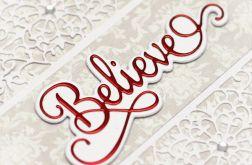 Kartka Believe - uwierz w magię Świąt KBN