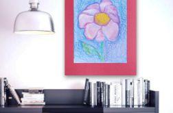 Rysunek kwiat na bordowym tle nr 6 szkic