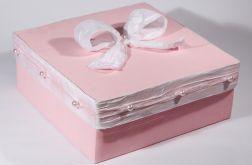 Pudełko biało-różowe LILLA