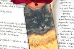 Zakładka - Czarny kot w kryzie