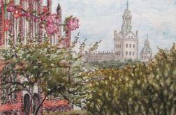 Szczecin, widok na Zamek i kościół Piotra i Pawła