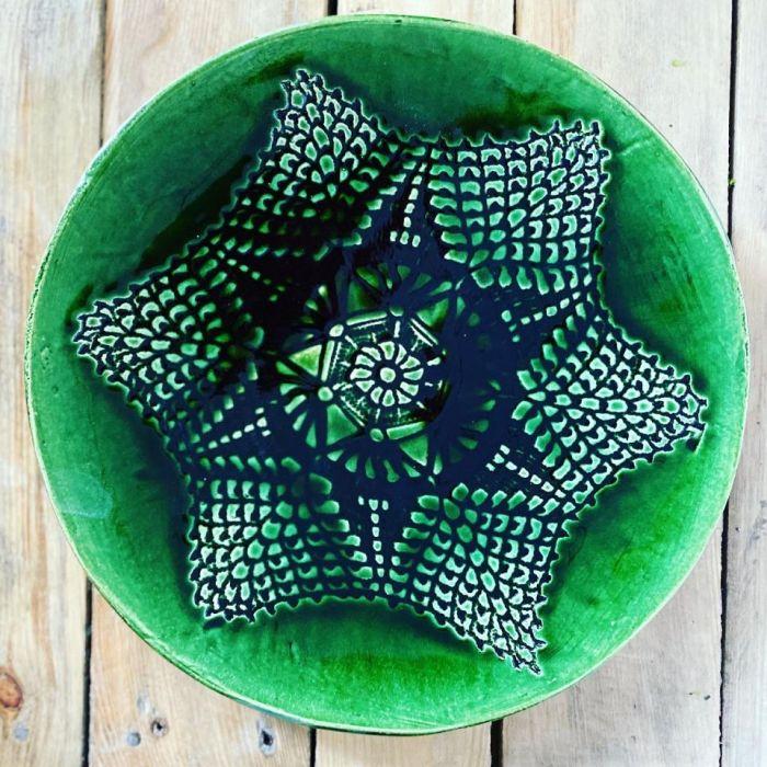 Patera koronka zieleń -