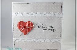 Kartka na Walentynki z serduszkami 2