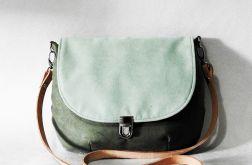 Torebka listonoszka zielona vintage