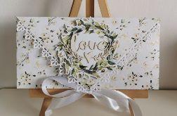 Kartka ślubna kopertowa kopertówka floral XIV love