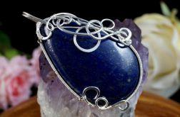 Srebrny wisior z kaboszonem lapis lazuli
