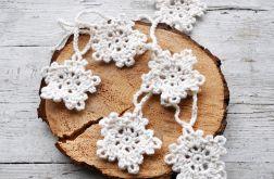 Girlanda - szydełkowe śnieżynki 2