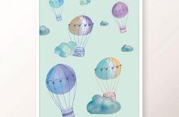 Plakat / BALLOONS blue