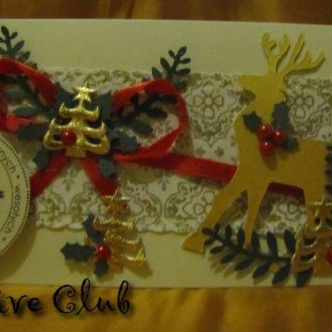 Renifer 3- Kartka świąteczna
