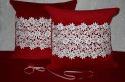 2 czerwone poszewki na poduszki 50x50 cm