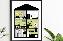 Plakat In House / Green