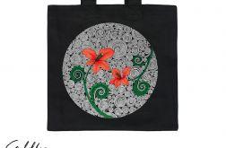 Czerwone kwiaty - torba premium