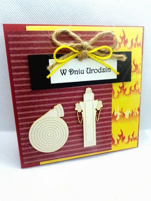 Kartka dla strażaka urodziny Dzień Strażaka #1 - 2