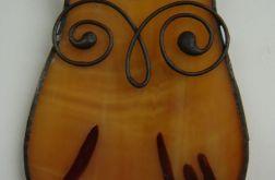 Sowa Broszka witrazowa Tiffany sówka ptak
