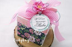 Pudełko na ślub -Granatowe róże