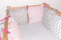Modułowy ochraniacz do łóżeczka 6 szt N36
